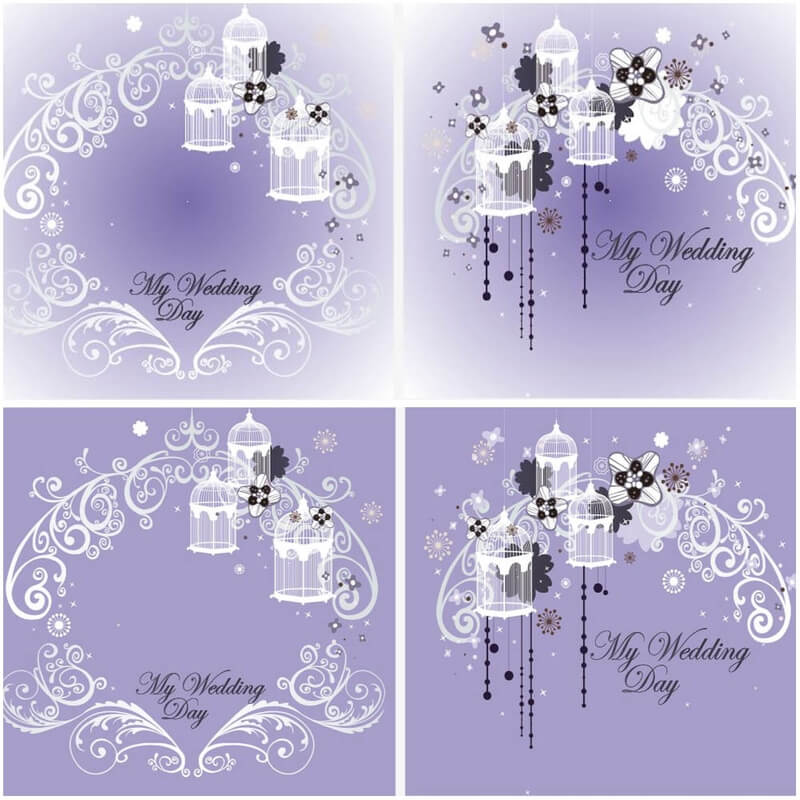 My wedding day templates vector
