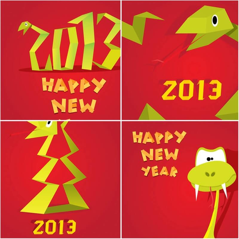 2013 New Year of snake vector