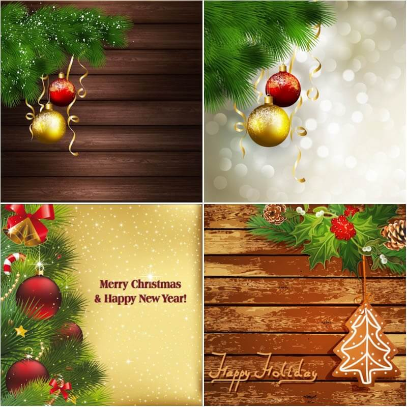 Christmas backgrounds and cards vector