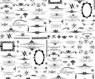 Different ornament elements vector