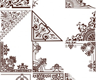 Natural ornate corners vector 2020