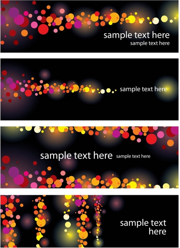 Banners tamplates vector