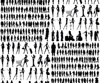 People silhouette vector 2020