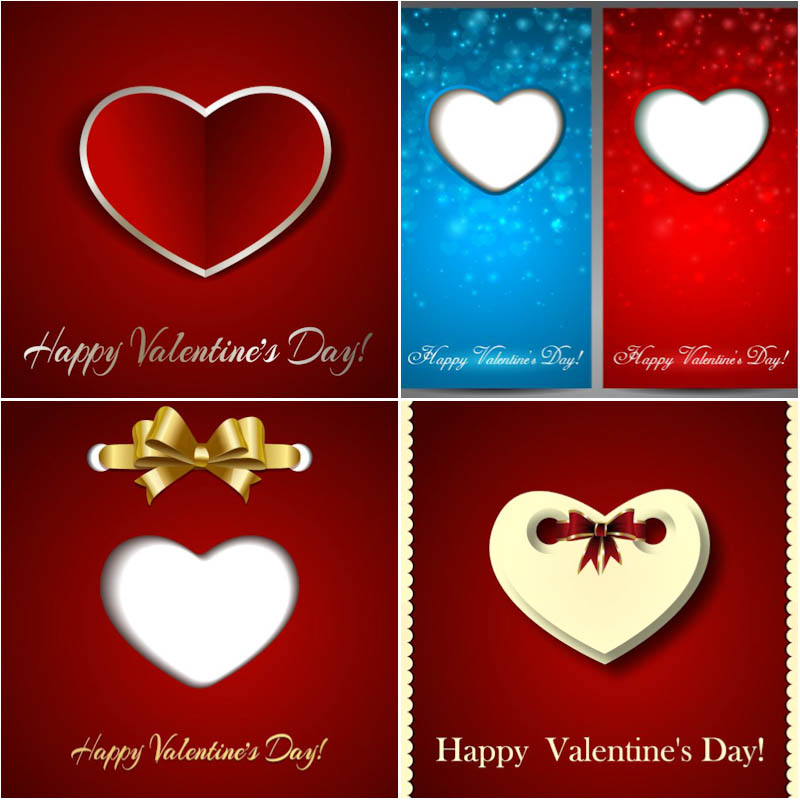 Cards for Valentine's Day vector