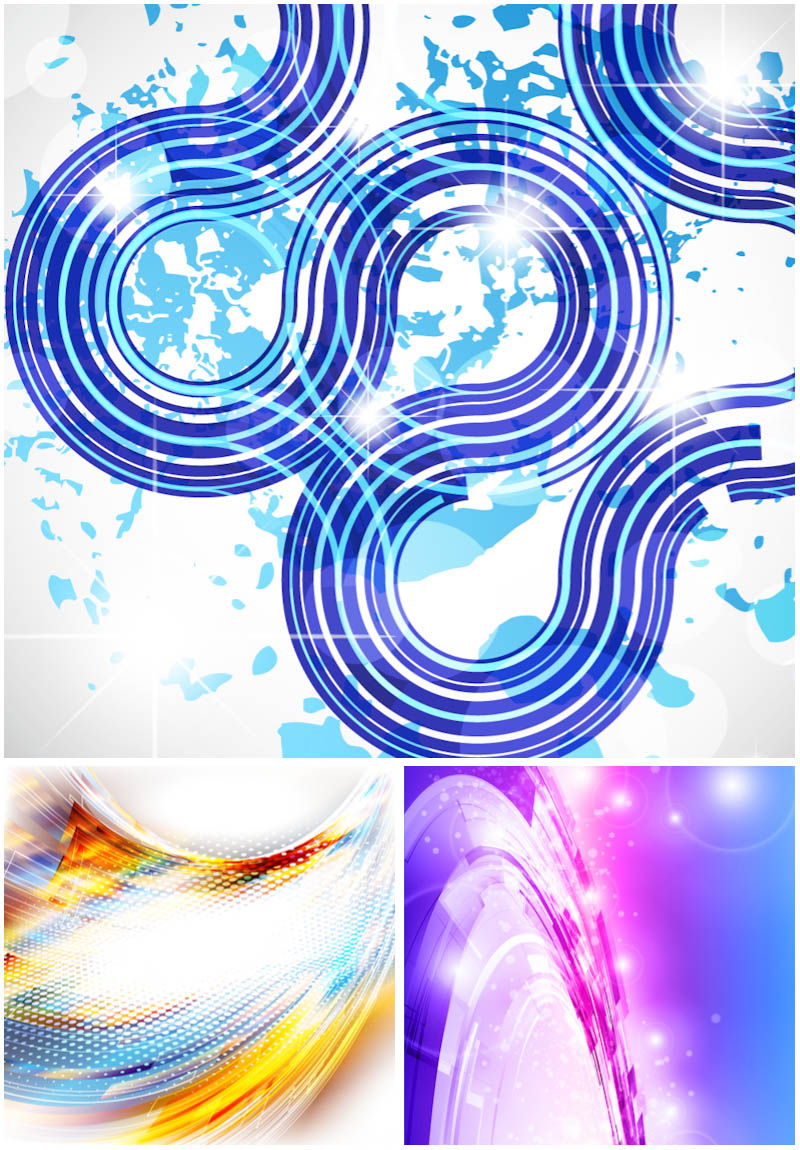 Color wavy backgrounds vector