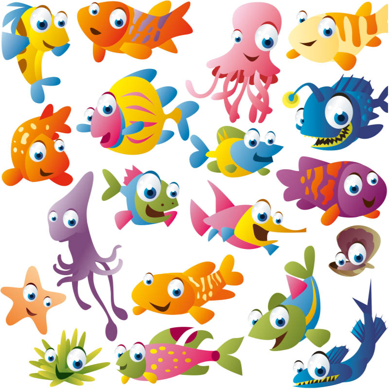Funny Cartoon Fish Vector Free Download Vectorpicfree