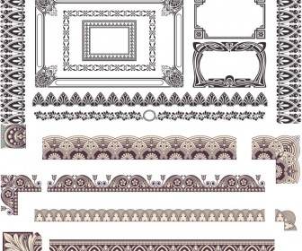 Swirl ornament frames vector
