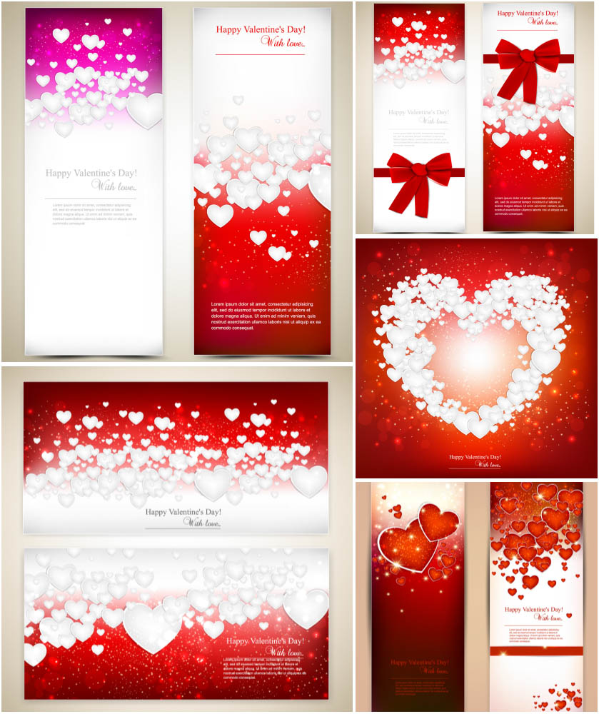Valentine's Day - Vector cards and banners