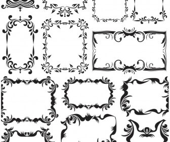 Vintage decorative frames vector 2020