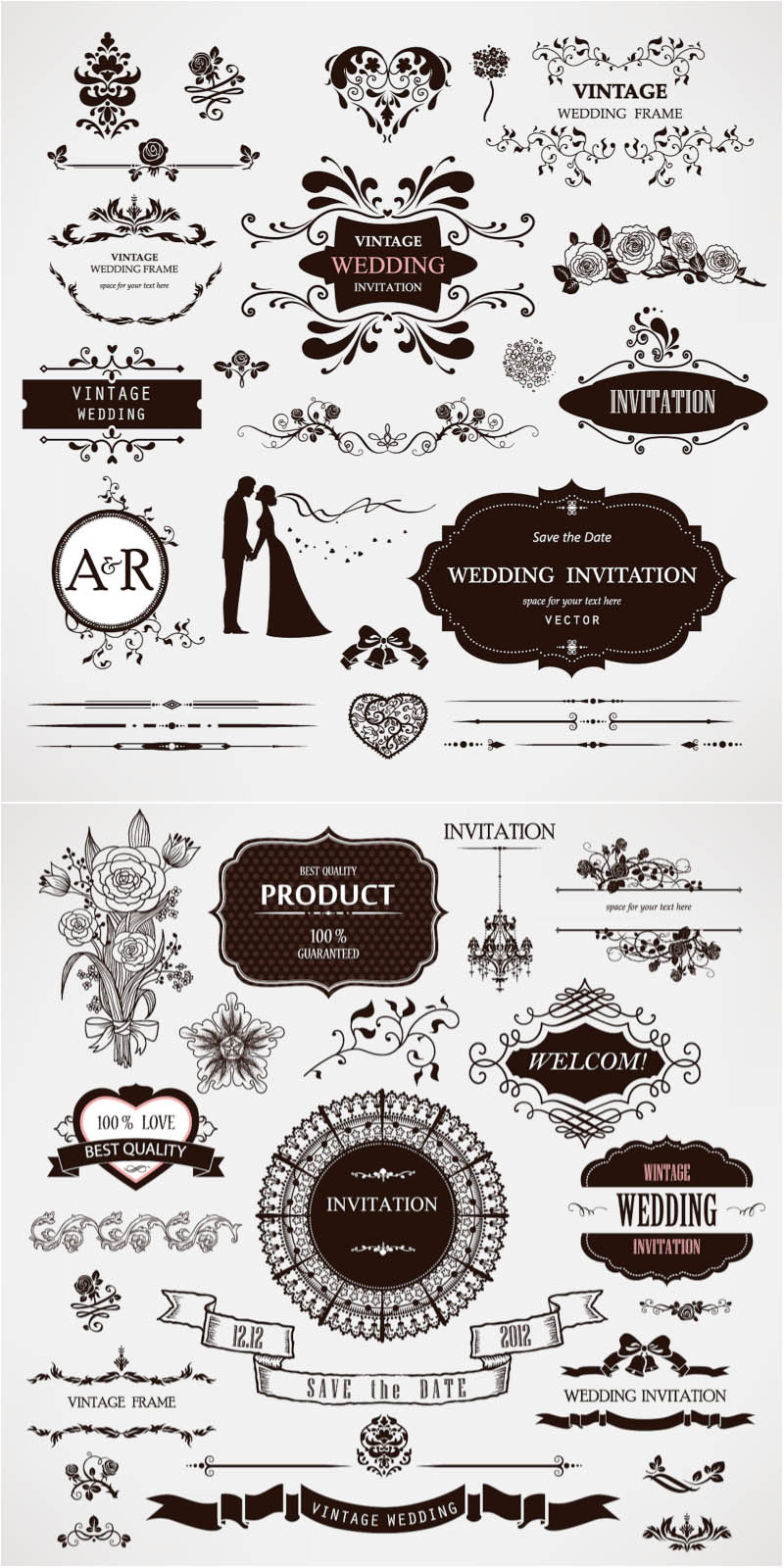 Wedding decor vector
