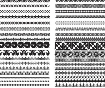 Many ornament borders vector