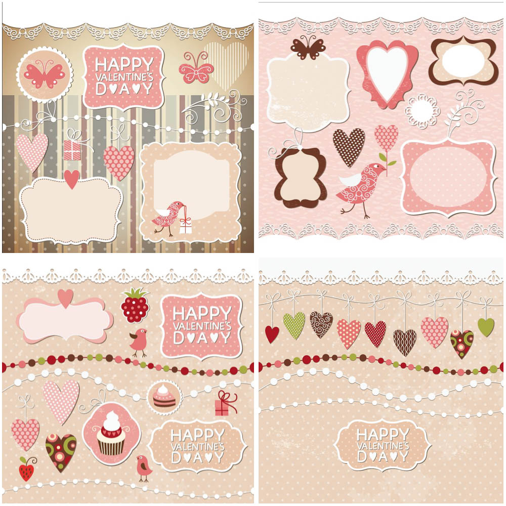 Valentines day decoration vector