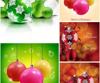 2014 Christmas balls vector backgrounds vector