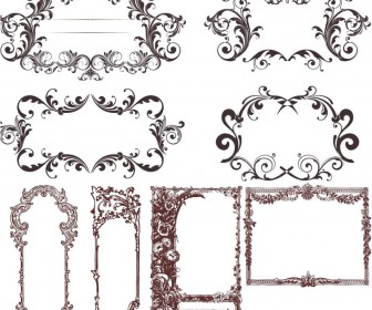 Stylish antique frames vector