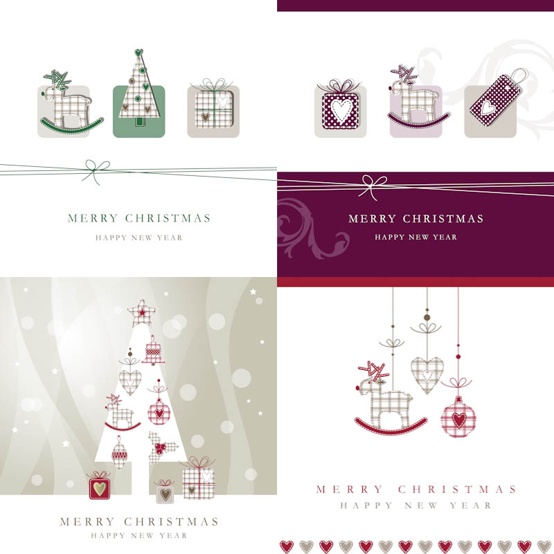 New years cards with copy space vector