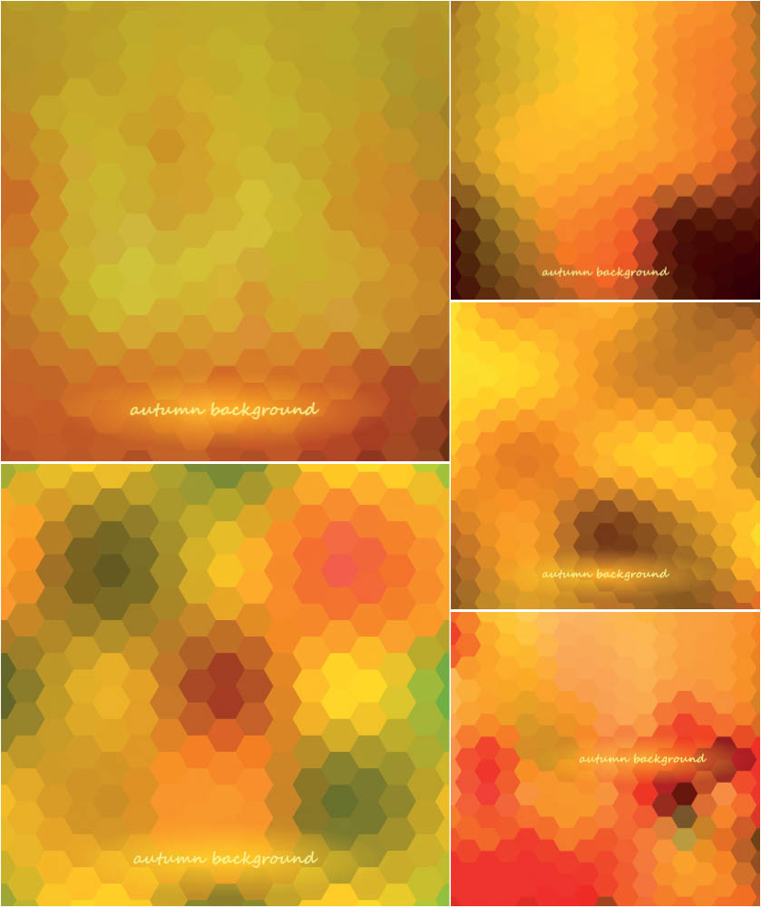 Autumn (fall) blurred backgrounds consisting of rhombuses