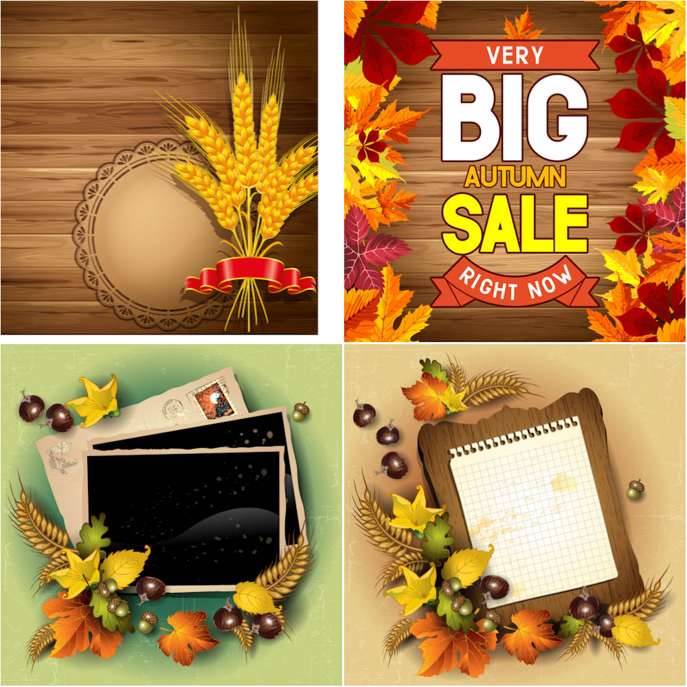 Autumn (fall) cards and sale background