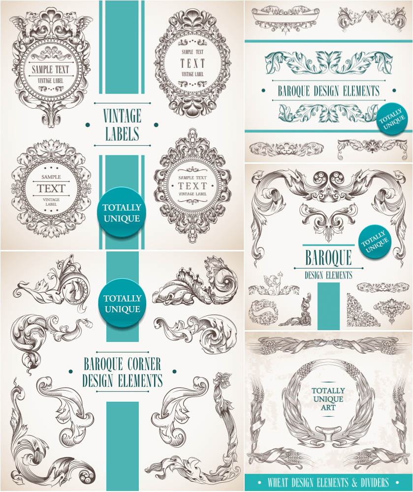 Baroque decorative elements