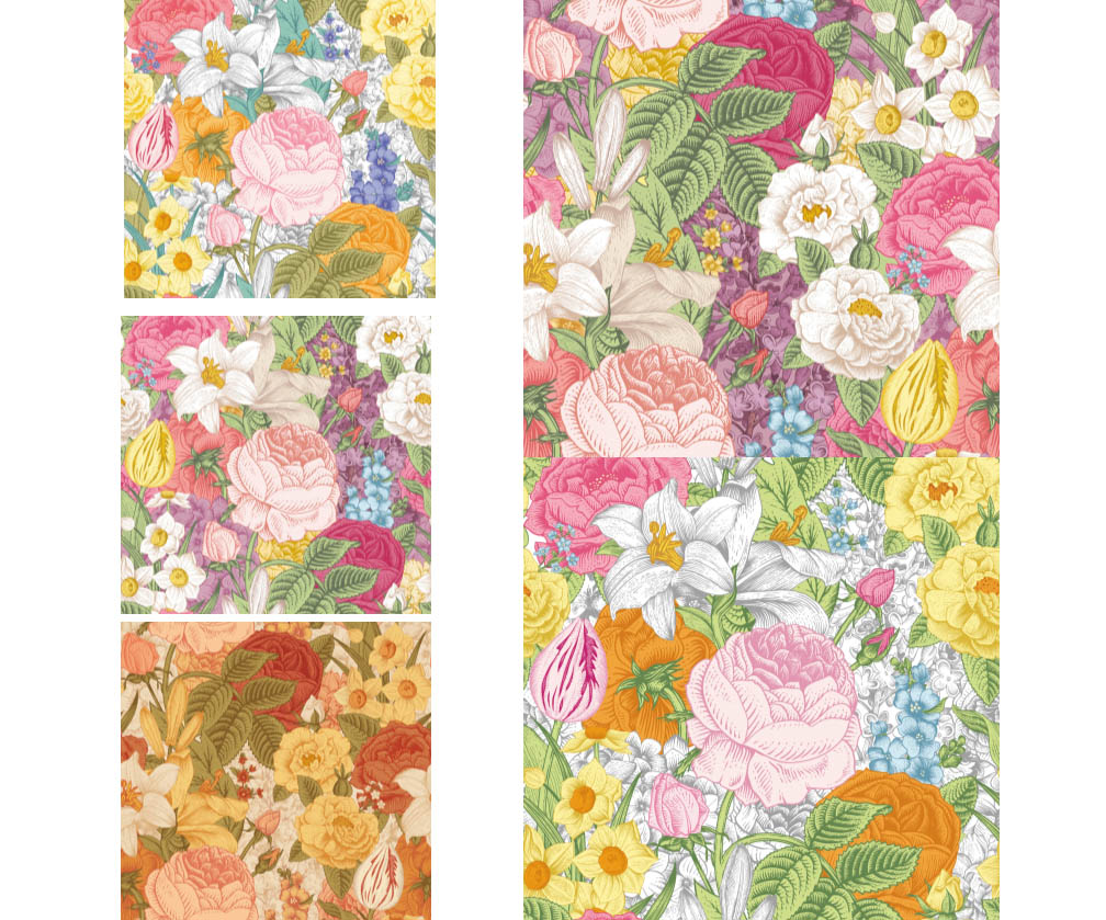 Colored flowers backgrounds