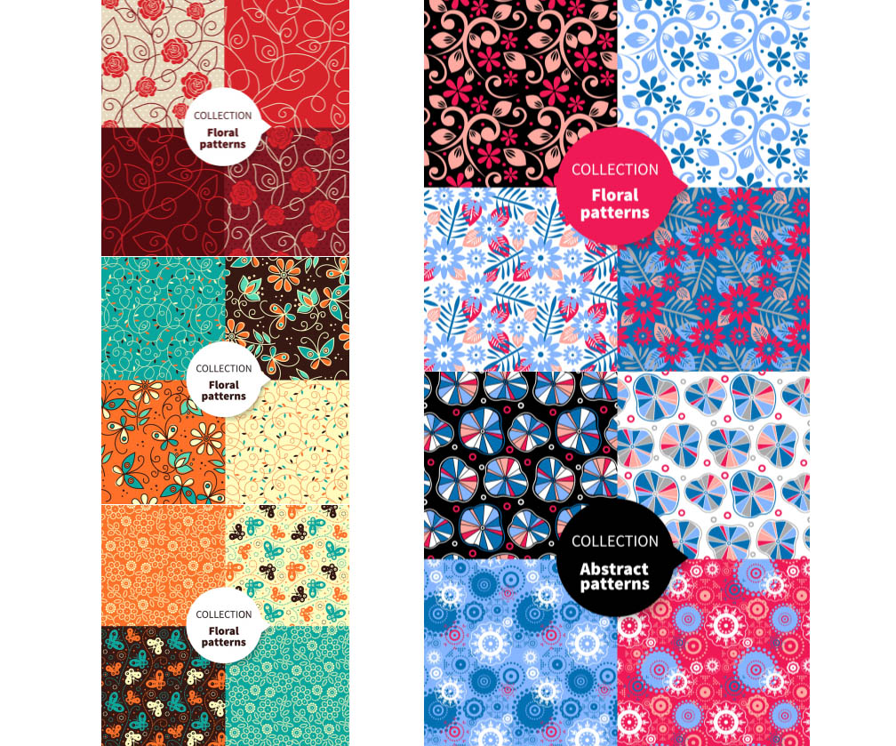 Floral patterns seamless backgrounds