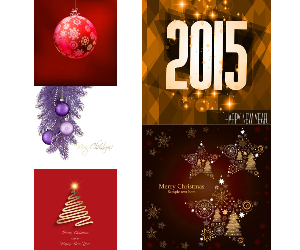 Happy New Year 2015 backrounds vectors