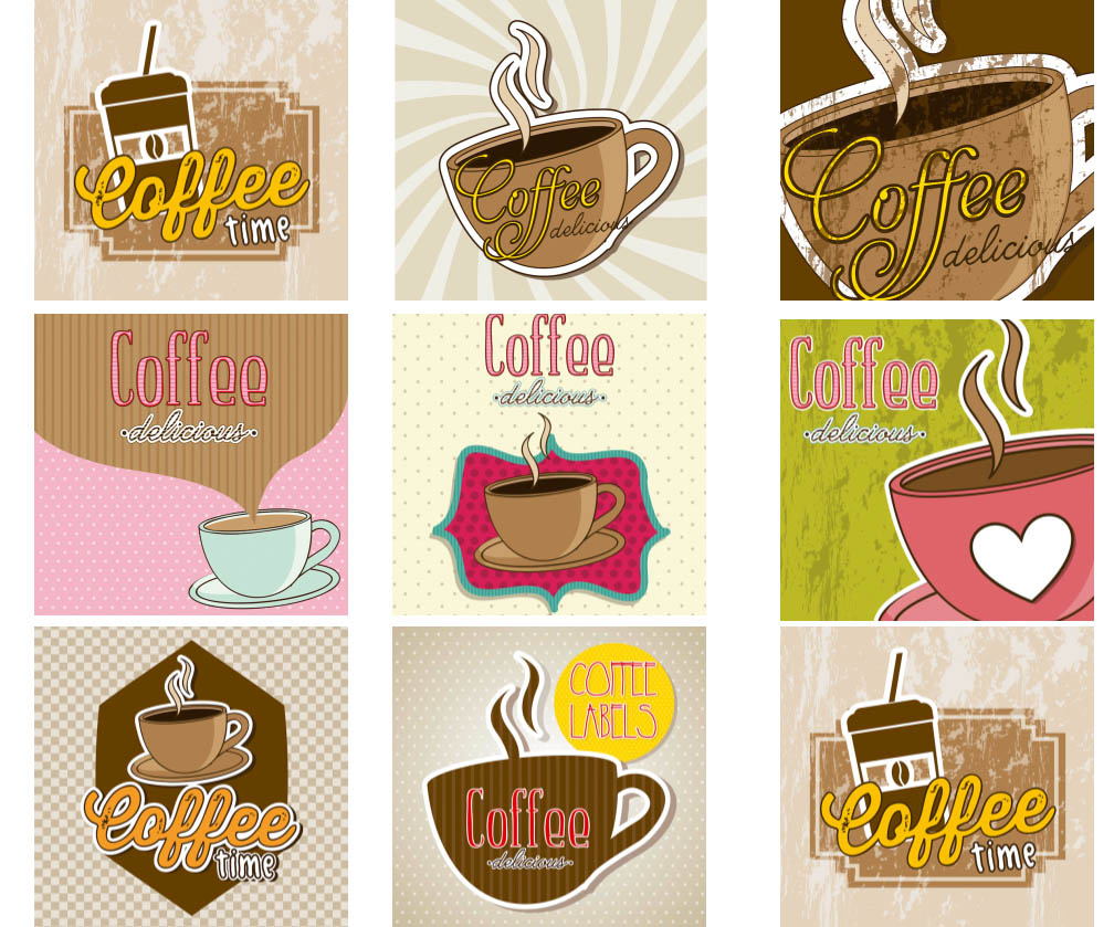 Retro coffee backgrounds