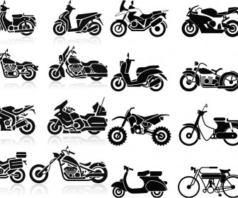 All type Motorcycles silhouettes