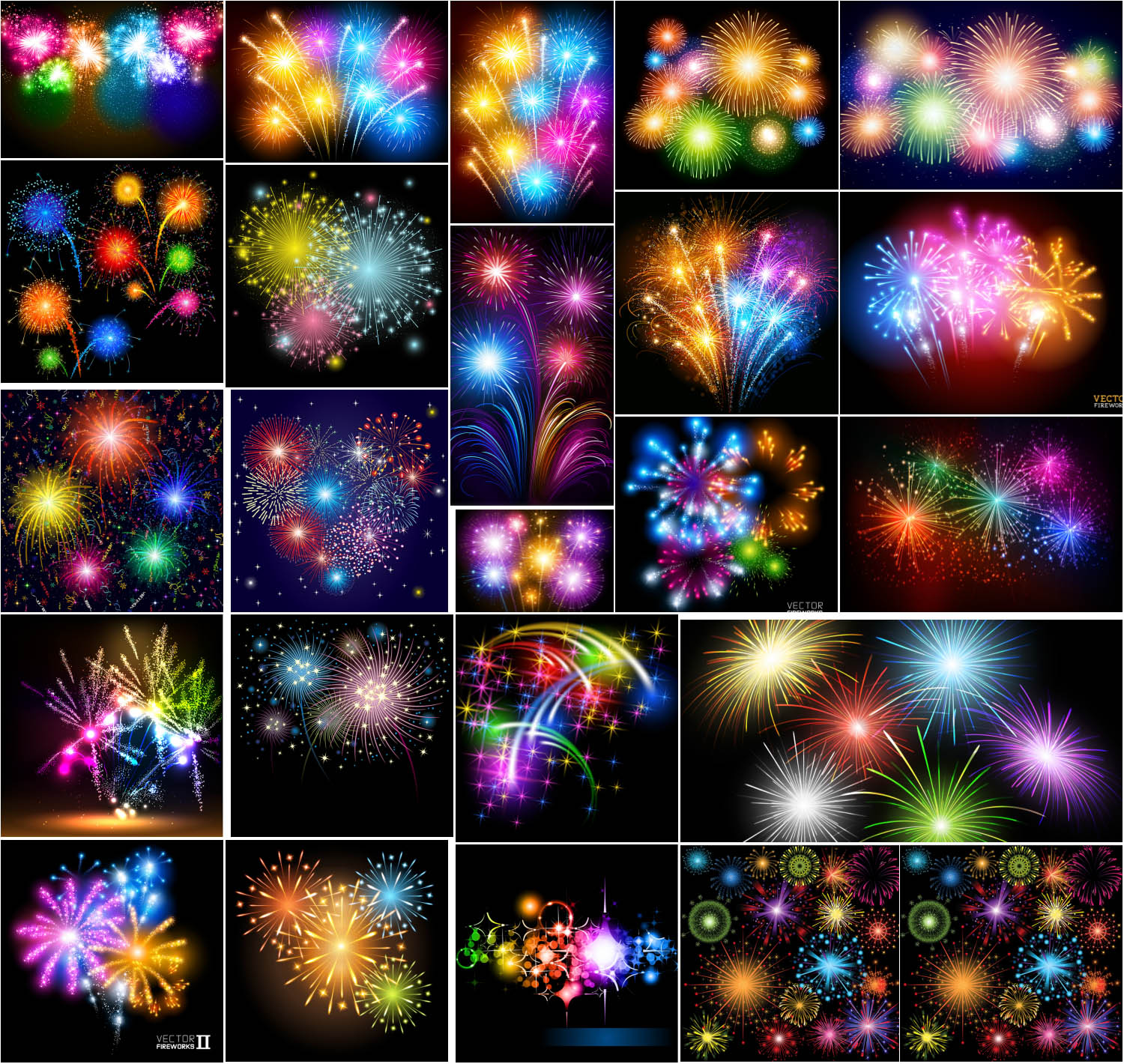 Fireworks and light effects