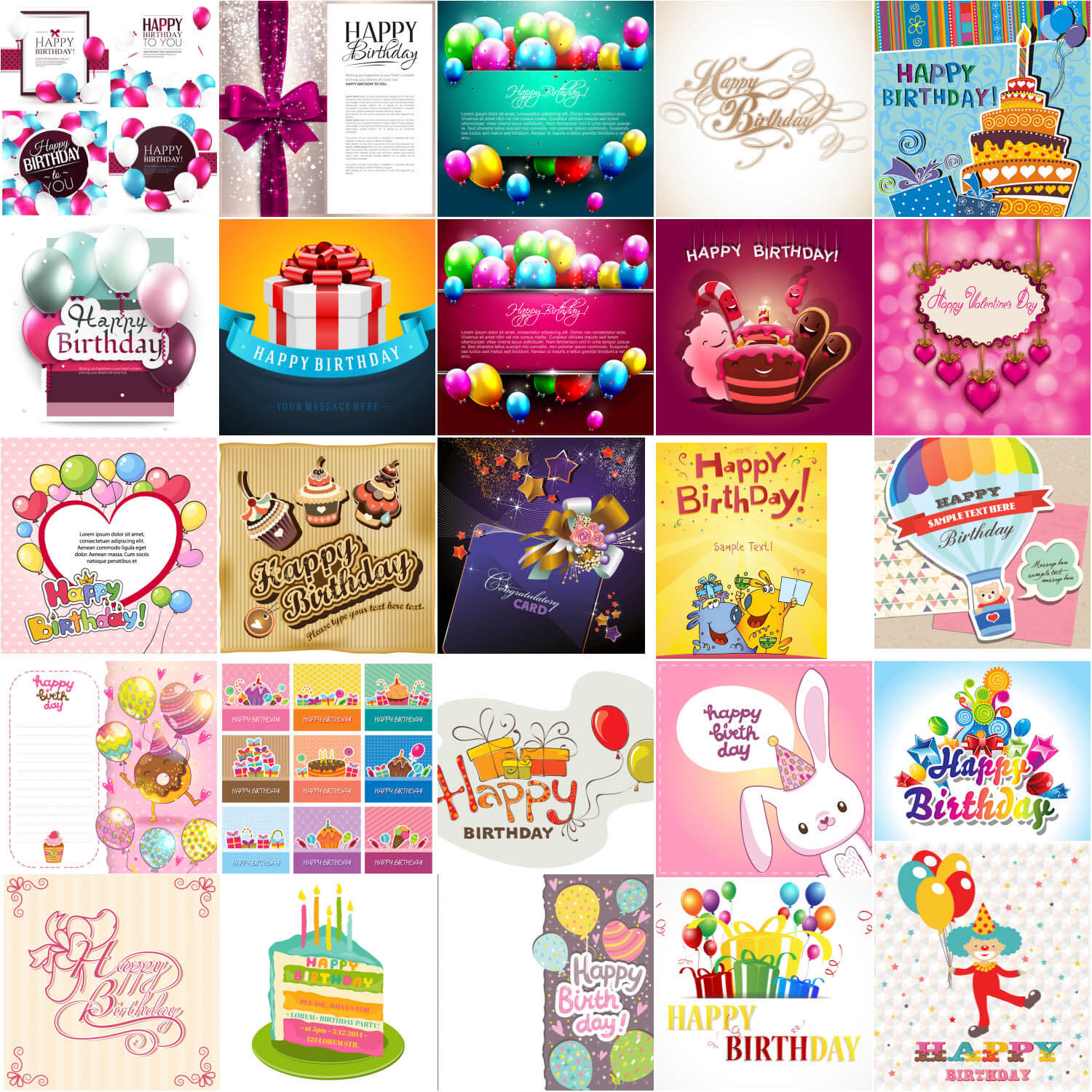 Happy Birthday templates Happy Birthday cards