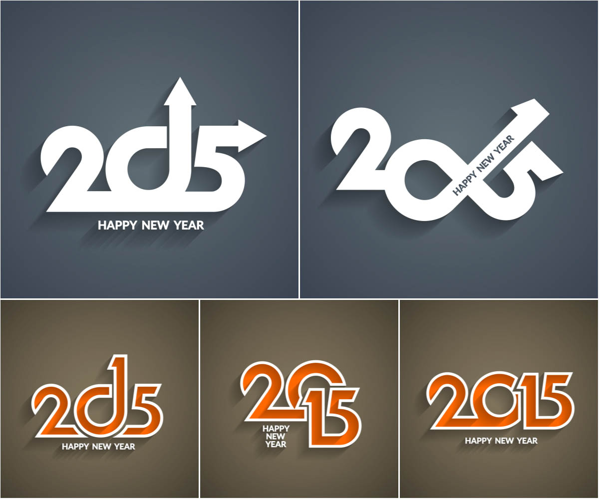 New Year 2015 inscription templates