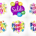 Sale backgrounds and inscriptions good wishes