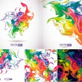 Watercolor abstract colored backgrounds set 2