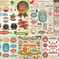Merry Christmas labels and stickers vector set 2