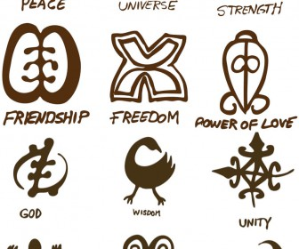 Ancient style symbols vector