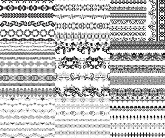Big collection of the decorative borders vector