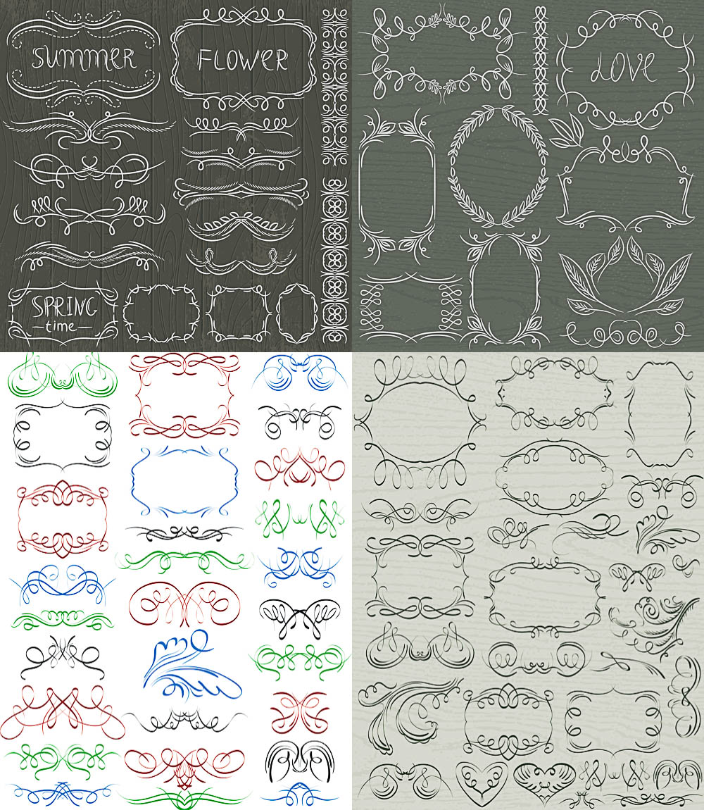 Vintage frames, free vector graphics - ai, eps templates