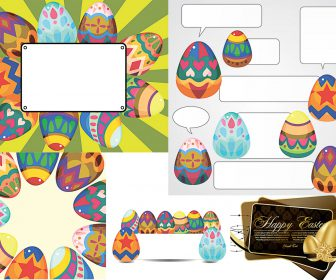 Easter frames templates vector